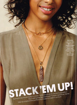 Sundown Collar Gold/Silver: Seen In Stylewatch!