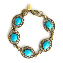 Antique brass/turquoise