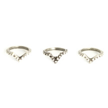 Peaks And Valleys Midi Ring Set -more colors