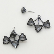 Delta Ear Jacket Earrings Black *Limited Edition*