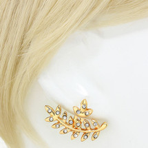 Leaf Ear Jacket Earrings Gold *Limited Edition*