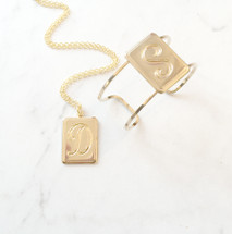 Monogram Initial Necklace: D, F, J, K, L, M, P, S - last ones!