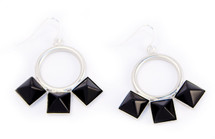 Three Square Earring Silver