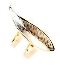 Feather Two Band Ring Gold: Seen on Dana Delorenzo!