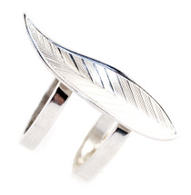 Feather Two Band Ring Silver