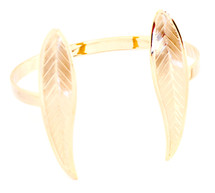Skinny Feather Ends Cuff Gold