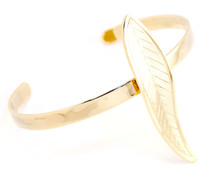 Skinny Feather Cuff Gold