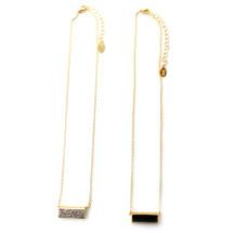 Tiny Bar Necklace/Choker Silver Stone