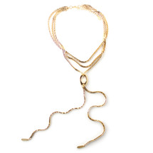 Cali Lariat Necklace Gold: Seen on Kristin Rose Davis!