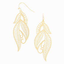 Etched Leaf Earrings