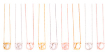 Circle Monogram Initial Necklaces: Seen on TODAY!