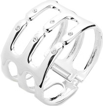 Come Together Cuff Silver: Seen on Nia Sioux Frazier