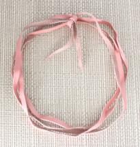 Noel Leather Wrap Choker - Pink
