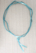 Noel Leather Wrap Choker - Turquoise