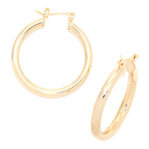 Around And Back Hoops Gold