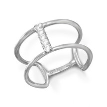 Curved Bar Ring (sterling)
