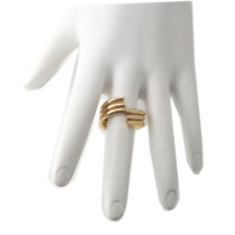 Curved Stacking Ring Set Gold