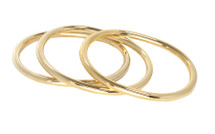 The Oval Bangle Set Gold: Seen in Oprah Magazine!