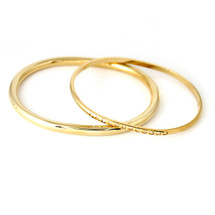 Around And Around Bangle Set Gold: Seen in Oprah & Family Circle! SOLD OUT!