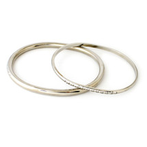 Around And Around Bangle Set Silver: Seen in Oprah!