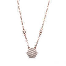 Rosie Hexagon Necklace (sterling)