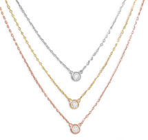 Tri Tone Layered Necklace *Sterling Silver*