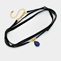 Velvet Blues Wrap Choker
