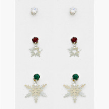 Snowflake Earring/Ear Jacket Set *Limited Edition* ONE LEFT!