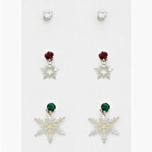 Snowflake Earring/Ear Jacket Set *Limited Edition* ONE LEFT!