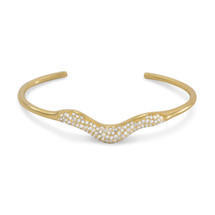 Pave Wave Cuff *Sterling Silver*