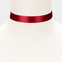 Ribbon Choker Burgundy *Limited Edition*