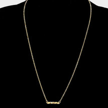 Wavy Bar Necklace Gold *Limited Edition*