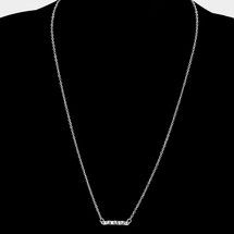 Wavy Bar Necklace Silver *Limited Edition*