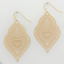 Gold Filigree Earrings *Limited Edition*