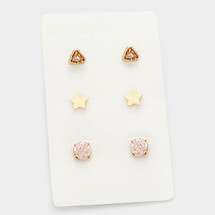 Rosey Druzy Earring Set *Limited Edition*