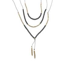 Set of 3 Gold/Hematite Layering Necklaces