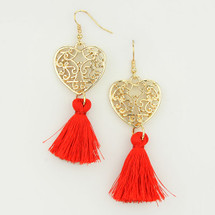 Heartstrings Tassel Earrings *Limited Edition*