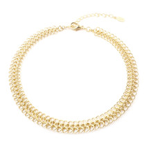 All Linked Up Choker - Gold