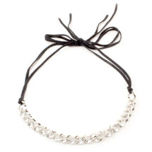 Business In Front, Party In Back Choker - Silver