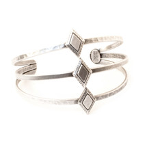 Diamond Sky Cuff -Antique Silver