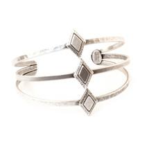 Diamond Sky Cuff -Antique Silver