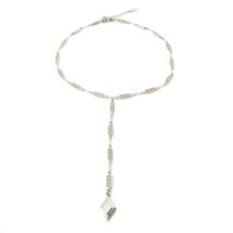 Diamond Sky Lariat -Silver: Seen on Kkarmalove!