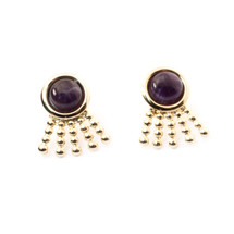 Sunray Earrings - Amethyst: Seen on Laverne Cox!