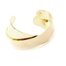 Cross Over Cuff -Gold