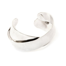 Cross Over Cuff -Silver