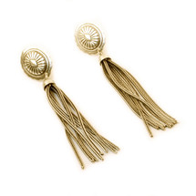 Gold Rush Tassel Earrings