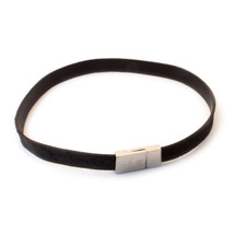 Skinny Band Together Choker -Black/Silver