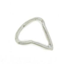 V Midi Ring - Silver