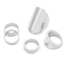 Silvered Ring Set