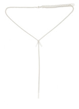Nomad Y Necklace -Silver